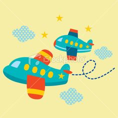 illustration of cute aeroplane Aviation Theme, Space Party, Applique Templates, Stop Motion, Free Vector Art, Diy Cards, Classroom Decor, Painted Rocks, Paper Art
