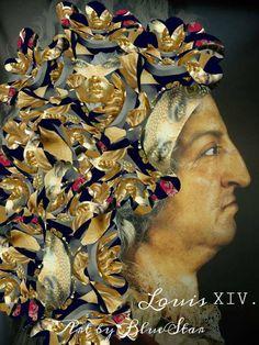 Art of BlueStar - Barock XXVIV. - Barock/Versailles, Fotocollage, 30 x 45 cm