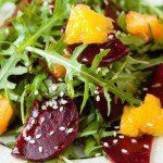 Barbabietola rossa cotta arance e rucola - Ricette in 30 minuti