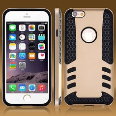Time Limited Sale 25% OFF, only $2.21/ Piece 50pcs  For iphone 6 Unique Design Cool Luxury Rocket Armor Case For iPhone 6 Plus Back Cover Dual Layer Portable Slim Silicon Shell Bag