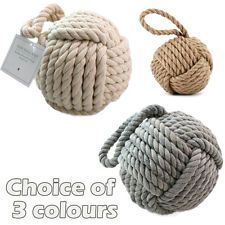 New England Rope Doorstop ~ Nautical Rope Knot Door Stopper
