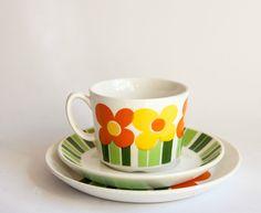 Retro #Figgjo Annemarie - Trio - Cup, Saucer, Plate @ebay
