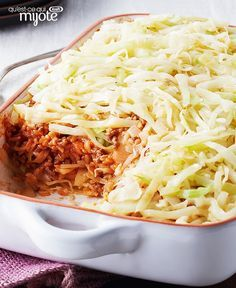 Ingredients : 8 cups shredded cabbage (about 1 large head) 2 onions, chopped cup Italian salad dressing lb) extra-lean ground beef 2 cups instant brown rice, uncooked 2 oz) cans low-sodium condensed tomato soup cups water Open Next Page Easy Diner, Cabbage Casserole, Italian Salad, Salad Dressing, Ground Beef, Macaroni And Cheese, Vegan, Vegetables, Cooking