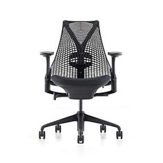 Shop the Sayl Task Chair from Herman Miller, a modern task chair that echoes the Golden Gate Bridge with its signature back design. Herman Miller Sayl with ventilated fabric for air circulation and four settings for range and tension. Shop the Sayl Chair.