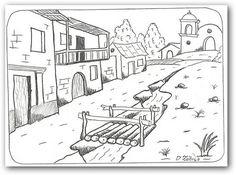 Dibujos para colorear paisajes | Fotos o Imágenes | Portadas para Facebook
