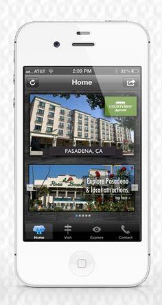 App design for Courtyard Marriott Pasadena #apps #hotels
