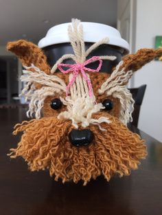 This adorable Yorkie cozy is unique and is loaded with personality! It looks so real you almost expect it to bark. If you or someone you know is an