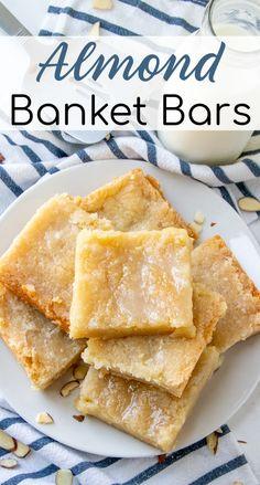 Easy No Bake Desserts, Delicious Desserts, Yummy Food, Yummy Dessert Recipes, Fun Food, Holiday Desserts, Holiday Recipes, Summer Desserts, Almond Bars
