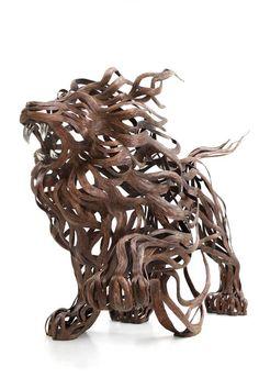 Les Sculptures animalières de Bandes métalliques de Sung Hoon Kang (2)