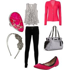 My first outfit i made on polyvore... that site is almost as addicting as pinterest :)