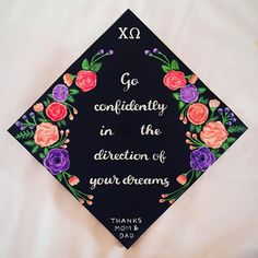 Pin for Later: 61 Creative Ways to Decorate Your Graduation Cap  Love the inspiring quote!