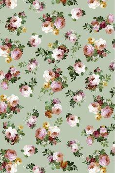 Vintage Flowers Wallpaper, Vintage Flower Prints, Flower Background Wallpaper, Flower Backgrounds, Fabric Wallpaper, Pattern Wallpaper, Floral Prints, Digital Print Textiles, Cherry Blossom Wallpaper
