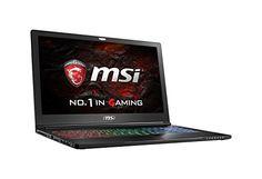 MSI VR Ready GS63VR Stealth Pro 4K-021 15.6″ 4K Display Slim and Light Gaming Laptop GTX 1060 i7-6700HQ 16GB 512GB M.2 SATA + 1TB Windows 10