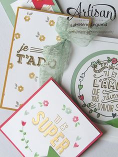 Stamp 2 LiNotte: En toute amitié - Stampin'Up ! Artisan Blog Hop - Mai #4