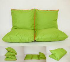 ZIPILLOW green & orange - outdoor waterproof - couch, extra bed, pouf, bench.