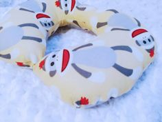 Hey, I found this really awesome Etsy listing at https://www.etsy.com/listing/208990589/sock-monkey-travel-neck-pillow-sock