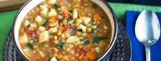 This lentil vegetable soup recipe is a favorite of my boys and so easy to make.