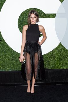 Pin for Later: GQ's Men of the Year Brought the Fashion Party Willa Holland You know it's a party when someone shows up without any pants. We still love Willa's look, though.