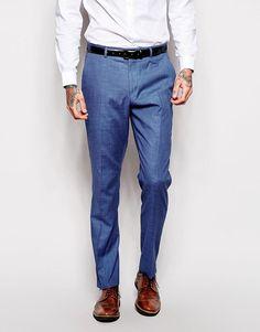 #ASOS - #ASOS ASOS Skinny Fit Suit Pants In Blue - Blue - AdoreWe.com