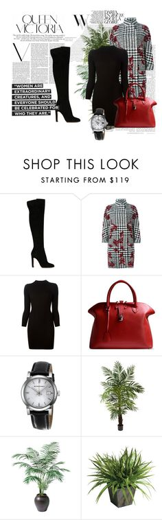 """""""Outfit # 2623"""" by miriam83 ❤ liked on Polyvore featuring Balenciaga, Gianvito Rossi, Ermanno Scervino, Maison Margiela, Golden Goose, Burberry, Victoria Beckham, Nearly Natural and Ethan Allen"""