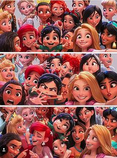 Vanellope and the Disney Princesses in Wreck-it Ralph 2 Walt Disney, Cute Disney, Disney Girls, Disney Magic, Disney Art, Funny Disney, All Disney Princesses, Disney Princess Pictures, Disney Pictures
