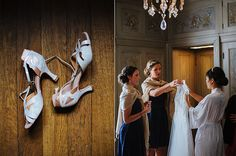 Villa Terrace Milwaukee Wedding. Bride getting ready. Photo by Anna Page Photography.