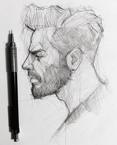 Portrait Drawing ✍️ tag your bearded friend! Portrait Sketches, Art Drawings Sketches, Pencil Drawings, Pencil Art, Fantasy Sketch, Fantasy Art, Best Mechanical Pencil, Mechanical Pencils, Profile Drawing