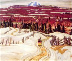 A. Y. Jackson -Group of Seven-Road To Chicoutimi