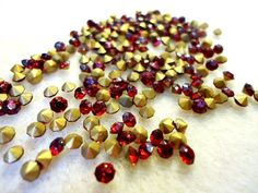 Vintage Glass Ruby Red colour rhinestone by JEDJewellerySupplies, £2.99