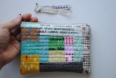 This week, between projects, I managed to make a small scrappy style patchwork zippered pouch. It has been a while since I us...