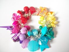 Kawaii Rainbow Gumball Charm Bracelet - kitsch - gumball  £10.00 - folksy - cute - handmade - diy - jewellery