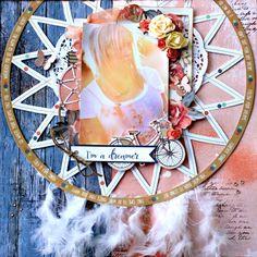 Kaisercraft Boho Dreams Layout by Alicia McNamara Scrapbook Journal, Scrapbook Page Layouts, My Scrapbook, Scrapbooking Ideas, Card Making Tutorials, Craft Tutorials, Im A Dreamer, Scrapbook Embellishments, The Dreamers