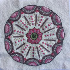 I just finished this free form embroidery project. 👍💓
