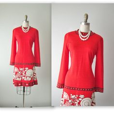 60s Goldworm Dress // Vintage 1960s Red by TheVintageStudio, $82.00