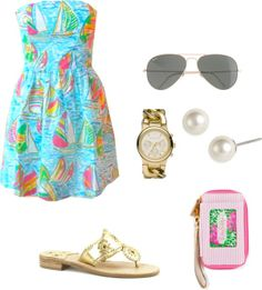 """""""Life in Lilly"""" by southern-prep ❤ liked on Polyvore ..."""