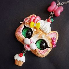 Its Furday!!!! Yaaaaay ! Finally!!! Etsy  Update right Meow !!! New pendants, golden purrmaid , blue moon⭐️ kitty, kitsune inspired japanese  style kitty, and two sweet-sweet delicious kittens : strawberry  cupcake and lime  ice cream kitty pendants  yummy!!!Which one is your favorite ?What  kind of kitty would you like to see next? ❤️ #catart #catartist #catlovers #lovecats #catpendant #catjewelry #catnecklace #catrelated #catcollectibles #han