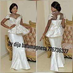 African Party Dresses, African Wedding Attire, African Fashion Dresses, African Wear, African Dress, Kente Styles, African Design, Dress Patterns, White Dress
