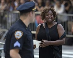 Radio personality Robin Quivers leaves the funeral for Joan Rivers...