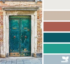 Design Seeds…color palette samplings from photos Rustic Color Palettes, Rustic Colors, Green Kitchen Decor, Kitchen Colors, Kitchen Design, Bathroom Colors, Kitchen Grey, Design Seeds, Colour Schemes