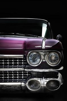 Purple 1959 Cadillac, photo by Leigh Garipidis Ford 2000, Vintage Cars, Antique Cars, E90 Bmw, Automobile, 1959 Cadillac, Cadillac Ct6, Ford Mustang, Hot Rides