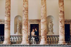 Marble Hall, Holkham Hall   Wedding Venue, Norfolk Wedding,  Bride and Groom