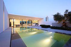 Swimming Pool Lighting, Contemporary Villa in Jesolo Lido, Venice, Italy
