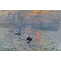 East Urban Home 'Impression Sunrise, 1872' by Claude Monet Original painting on Wrapped Canvas Size:
