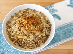 Mujadara - Traditional Middle Eastern Recipe- use Brown Basmati Rice
