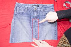 Make a Denim Skirt From Recycled Jeans Step 5.jpg