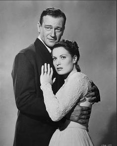 John Wayne and Maureen OHara in The Quiet Man (1952).  Love this movie