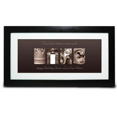 Personalised Affection Art Wife Frame  from www.personalisedweddinggifts.co.uk :: ONLY £19.99