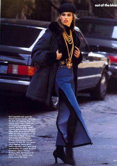 US Vogue 08 91   Meghan Douglas by Marc Hispard