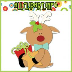 Reindeer Friends 3 Cutting File & Clip Art Single - $0.50 : Welcome to AllClipART.info!, We offer High Quality COMMERCIAL USE Graphics for Teachers, Crafters & Scrapbookers. Clip Art Graphics, Printable Paper Crafts, CU/PU Kits, Digital Stamps, Digital Papers & Free Downloads! Available in downloadable jpg & png formats.
