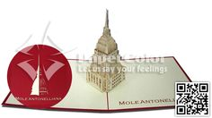 The Mole Antonelliana - Turin, Italia 3D Pop up Kirigami cards, View 3D Pop up cards, Paper Color Product Details from PAPER COLOR CO., LTD on Alibaba.com